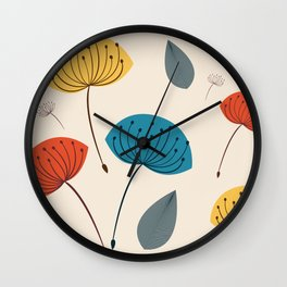 Dandelions in the wind Wall Clock