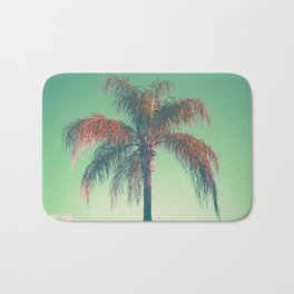 Red palm tree Bath Mat
