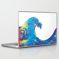 hokusai Laptop & iPad Skins featuring Hokusai Rainbow_B by FACTORIE
