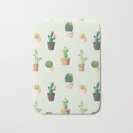 Cacti Plant Box Pattern Bath Mat