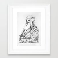 darwin Framed Art Prints featuring Charles Darwin by Noelle Fontaine