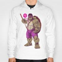 ninja turtle Hoodies featuring Hulk Ninja Turtle by Mike Wrobel