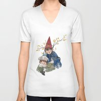 over the garden wall V-neck T-shirts featuring Over the garden wall by Rozenn