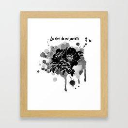 La flor de mi secreto Framed Art Print