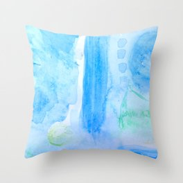 Billows of Ocean Throw Pillow