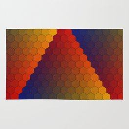Lichtenberg-Mayer Colour Triangle variation, Remake using Mayers original idea of 12+1 chambers Rug