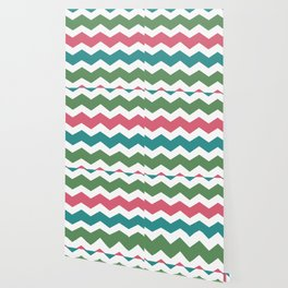 Green Pink Blue Chevron Wallpaper