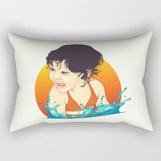 Water Splashes Rectangular Pillow