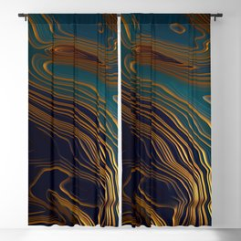 Peacock Ocean Blackout Curtain