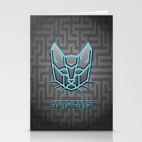 transformers Stationery Cards featuring Autocats Transformers by Enrique Valles