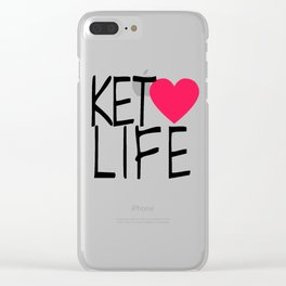 Keto Life Clear iPhone Case