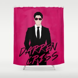 Pink Darren Criss Shower Curtain