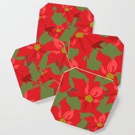 Poinsettia Love (Red) Coaster