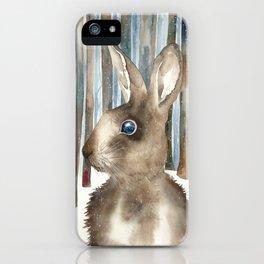Woodland Rabbit iPhone Case