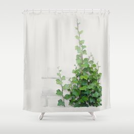 By the wall Shower Curtain