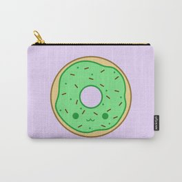 Yummy green kawaii doughnut Carry-All Pouch