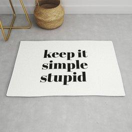 keep it simple stupid Rug
