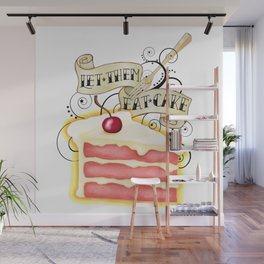 Let Them Eat Cake Vintage Tattoo Style Wall Mural