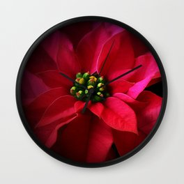 A Poinsettia Portrait Wall Clock