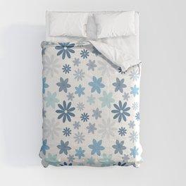 Pretty Flowers - Light Teal Comforters