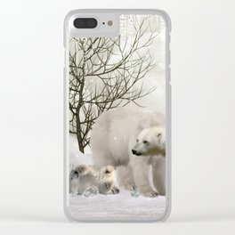 Awesome polar bear Clear iPhone Case