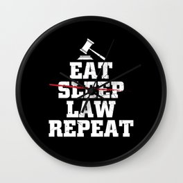 Lawyer Lawyer | Law Studies Lawyers Gift Idea Wall Clock