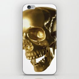 Golden Skull iPhone Skin