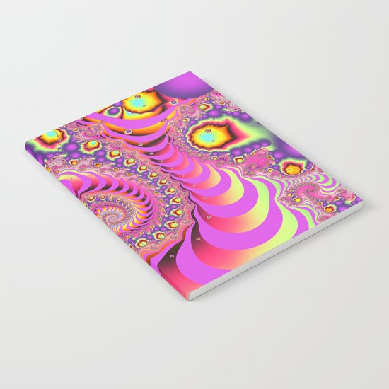 Colourful spiral motion, fractal abstract art Notebook