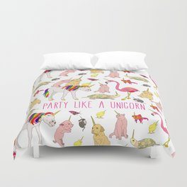 Party Like A Unicorn Duvet Cover