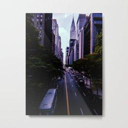 New York City // Retro 30 Metal Print