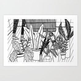 plant shopping Art Print