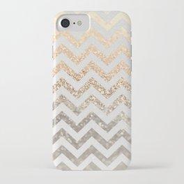 GOLD & SILVER CHEVRON iPhone Case