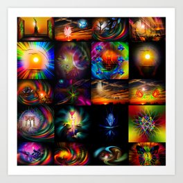 Collected Works Art Print