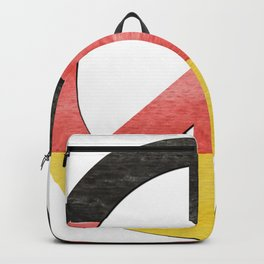 Water Color German Flag CND Peace Symbol Backpack