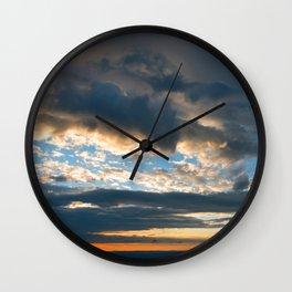 Vibrant Sunrise Cloudscape Wall Clock