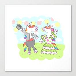 Unicorn Flamenco Canvas Print