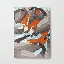 Smirre Fox Metal Print