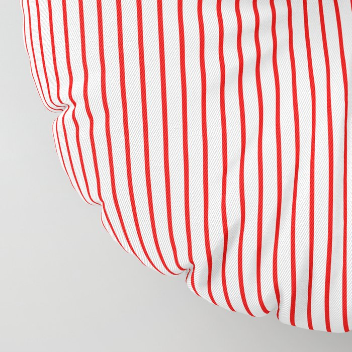 Thin Red Lines Vertical Floor Pillow