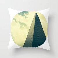 denver Throw Pillows featuring denver by MARONEY
