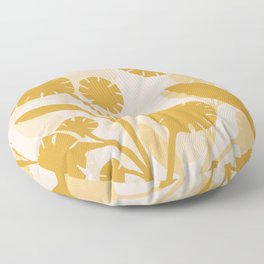Wildflowers Large- Pink and Gold Floor Pillow