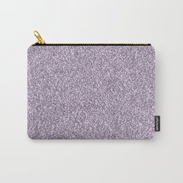 Abstract lavender lilac white faux glitter Carry-All Pouch