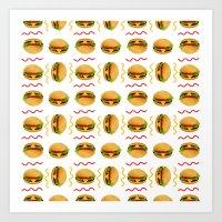 Burger Burger Art Print