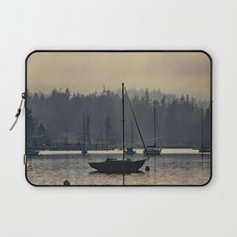 Foggy Morning at the Bay Laptop Sleeve