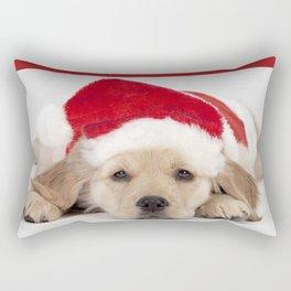Christmas Puppy Rectangular Pillow