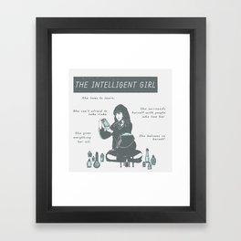 Hermione Granger / The Intelligent Girl Framed Art Print