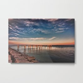 Light on the dike Metal Print