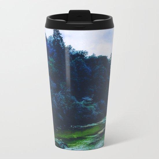 Blue Trees Metal Travel Mug