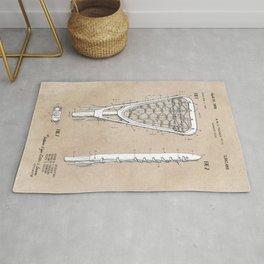 patent art Tucker Lacrosse stick 1967 Rug