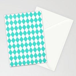 Diamonds (Turquoise/White) Stationery Cards
