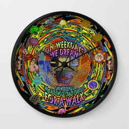 On Weekends We Take Those Crazy Turtles For A Walk Wall Clock
